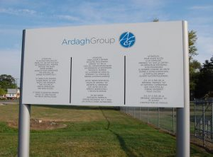 post panel outdoor sign directory